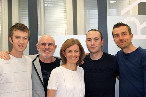Thomas, Denis, Sophie, Maxime, François  - L'Equipe KFR